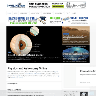 PhysLink.com- Physics and Astronomy Online