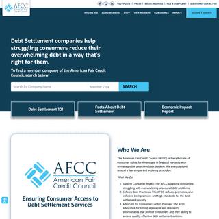 American Fair Credit Council - Setting the Standard in Debt Settlement