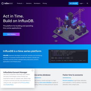 InfluxDB- Purpose-Built Open Source Time Series Database - InfluxData