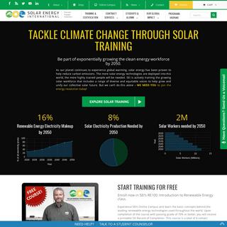 Get Connected - Solar Energy International (SEI)- Solar Training for Clean Energy Careers