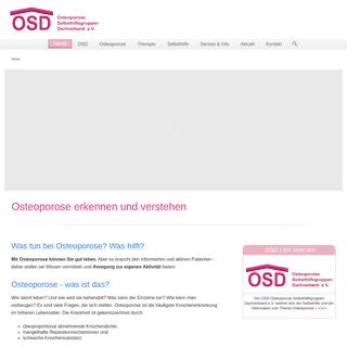 Osteoporose erkennen und verstehen. OSD Osteoporose Dachverband