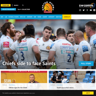 Exeter Chiefs - Home of Exeter`s Premier Rugby Club