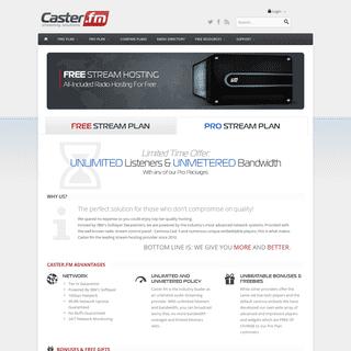 Free Shoutcast Server Hosting − Start Your Own Internet Radio − Caster.fm