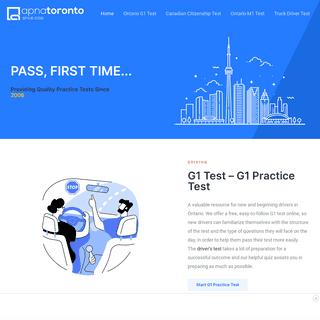 FREE G1 Test & Canadian Citizenship Practice Test - apnatoronto.com