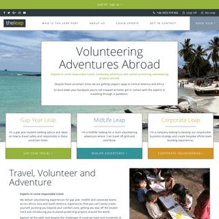 Gap year, Midlife & Corporate Volunteering Programs - The Leap