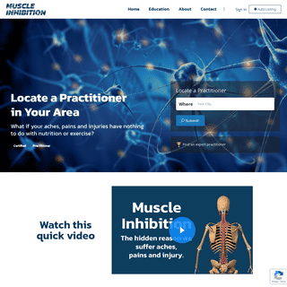 Muscle Inhibition – Find a Practitioner