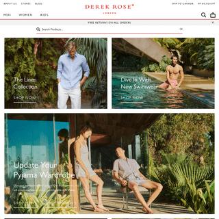 Derek Rose - Luxury Nightwear, Loungewear & Men`s Underwear