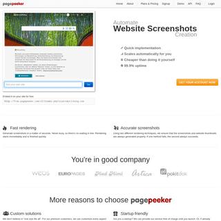 Website thumbnails and website screenshots - PagePeeker