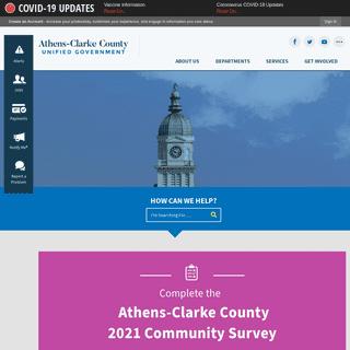 Athens-Clarke County, GA - Official Website - Official Website