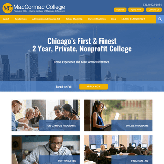 MacCormac College, 2-Year Private College In Chicago & Online