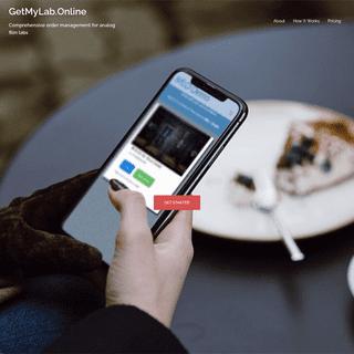 GetMyLab.Online – Comprehensive order management for analog film labs