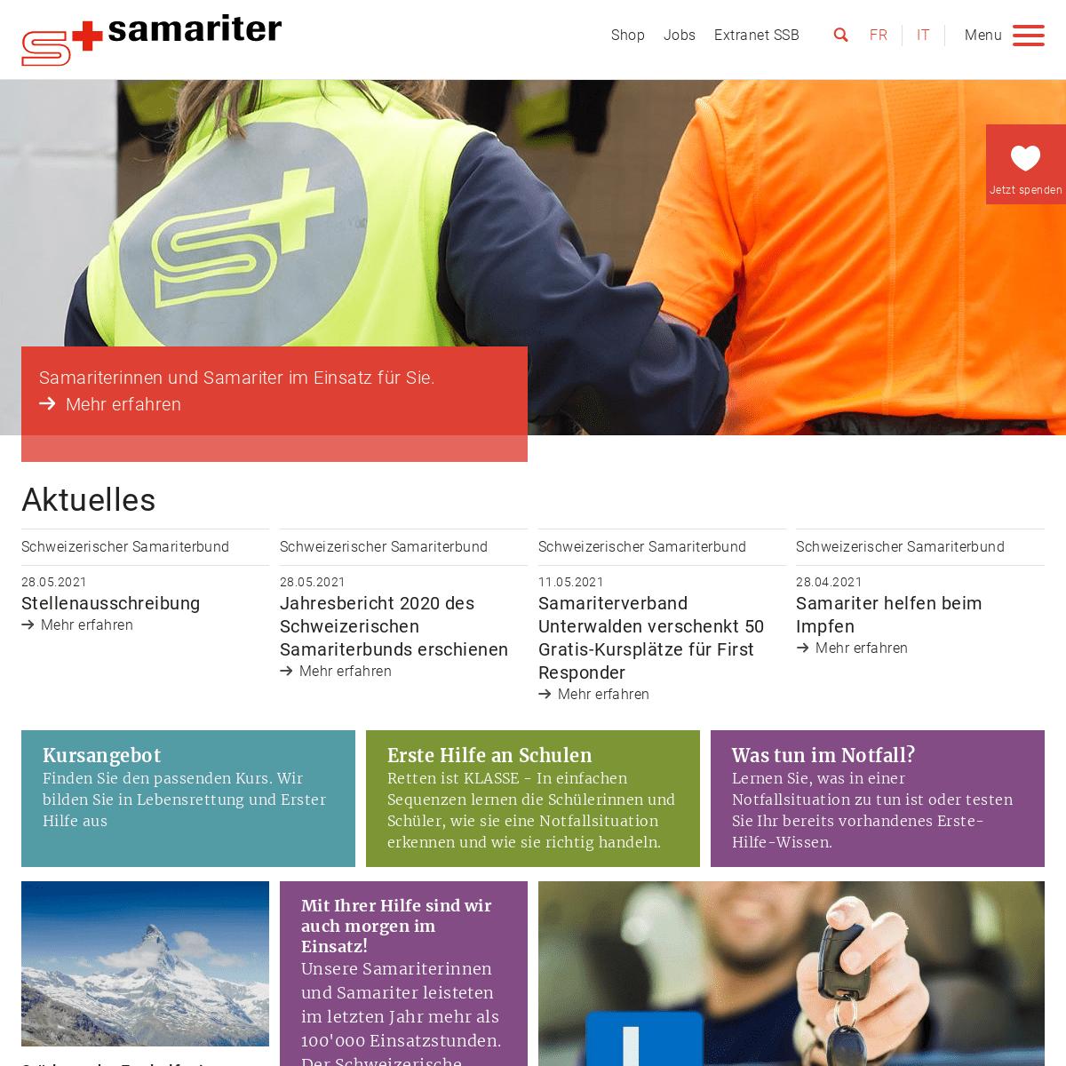 A complete backup of https://samariter.ch