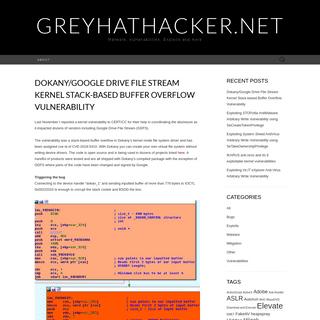 GreyHatHacker.NET – Malware, Vulnerabilities, Exploits and more . . .