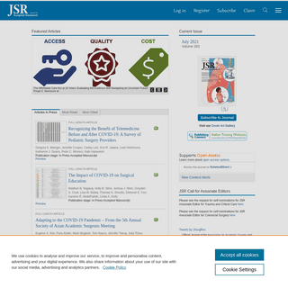Home Page- Journal of Surgical Research