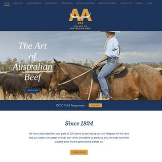 AACo - Perfecting the Art of Australian Beef