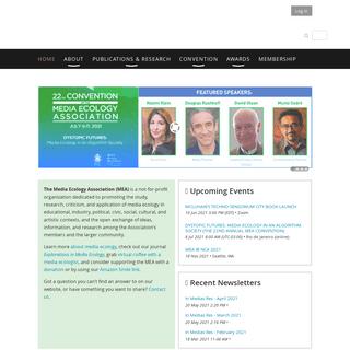 Media Ecology Association - Home
