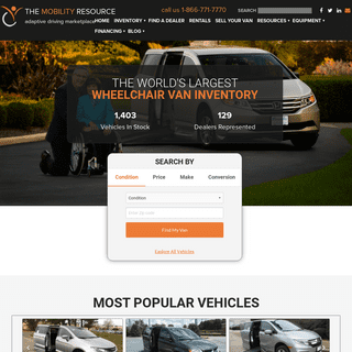 Wheelchair Vans & Adaptive Equipment Marketplace - The Mobility Resource