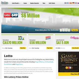 Lotto - The Official Lotto.net Website