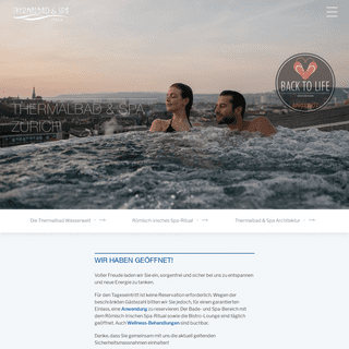 Thermalbad & Spa Zürich - Aqua-Spa-Resorts