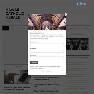 Hawaii Catholic Herald - Newspaper of the Diocese of Honolulu