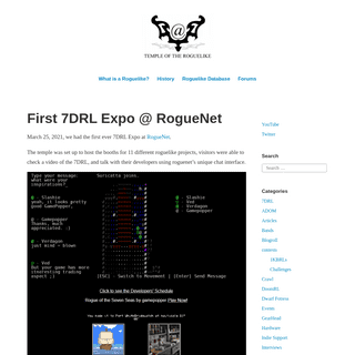 Temple of The Roguelike – Preserving the spirit of classic roguelikes