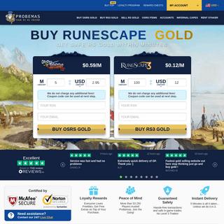 Runescape Gold - Buy RS Gold - Cheap RS GP - Probemas