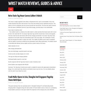 Wrist Watch Reviews, Guides & Advice