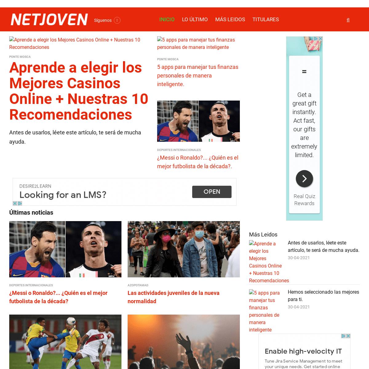NetJoven - Noticias y contenidos de valor para ti - NetJoven