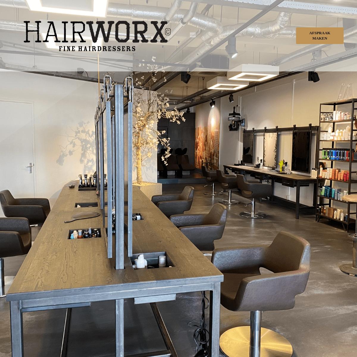 Hairworx – Trendy kappers in Amersfoort