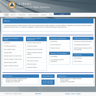 Alabama Commission on Higher Education