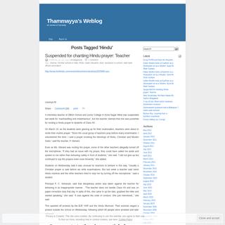 Hindu - Thammayya`s Weblog