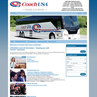 Coach USA Tours & Events