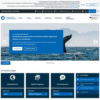 Startseite - kooperation-international - Forschung. Wissen. Innovation.