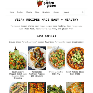 The Garden Grazer - Vegan Recipes Made Easy + Healthy