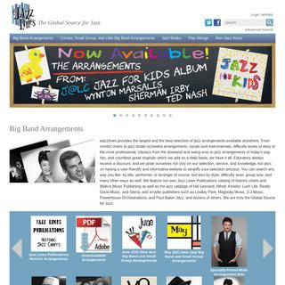 ejazzlines.com - Jazz DVDs, Books, Big Band Arrangements, and CDs