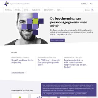 Startpagina burger - Gegevensbeschermingsautoriteit