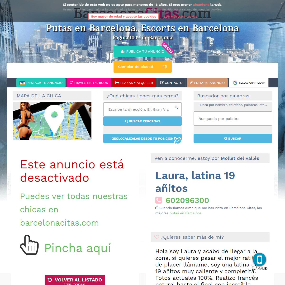 Laura, latina 19 añitos - tel- 602096300 - Putas Barcelona citas