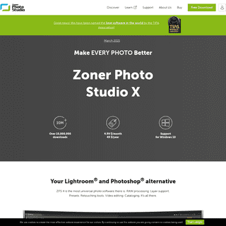 Zoner Photo Studio X—Windows software for editing and organizing photos
