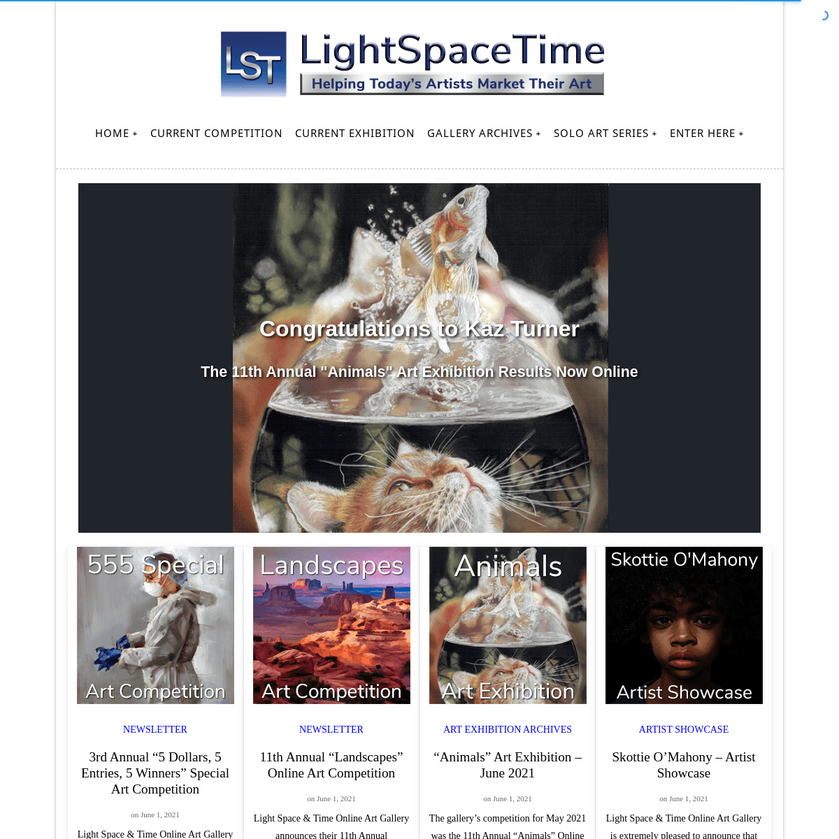 Light Space & Time Online Art Gallery - Home Page