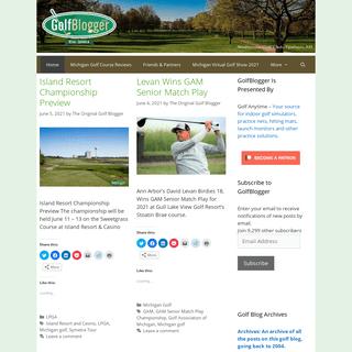 GolfBlogger Golf Blog - A daily golf blog featuring golf news, golf course, equipment and book reviews, essays, golf lifestyle a