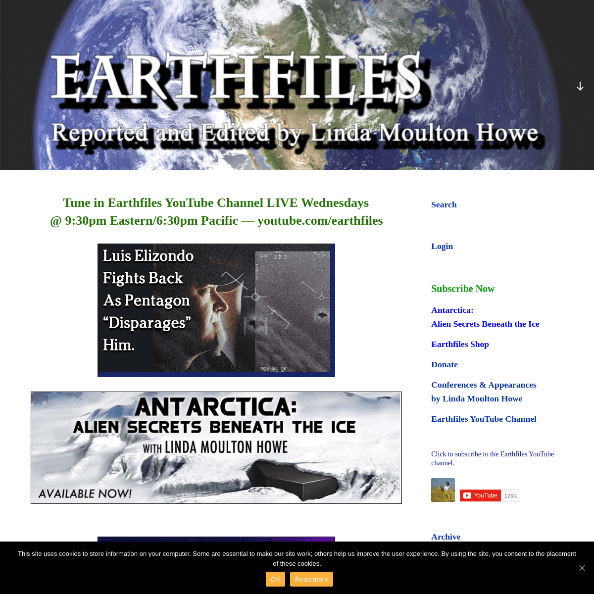 Earthfiles – Reported and Edited by Linda Moulton Howe