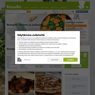 Kotikokki.net - Reseptit arkeen ja juhlaan