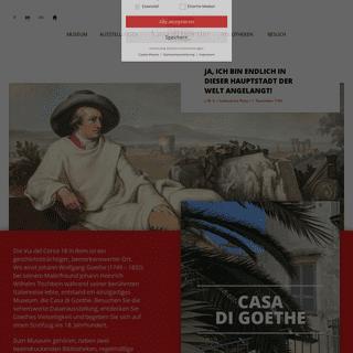 Casa di Goethe – L`unico museo tedesco a Roma, la Casa di Goethe ospita eventi e manifestazioni sulle tracce del celebre artis