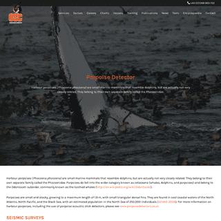 Porpoise Detector - Ocean Science Consulting Ltd - Marine Science
