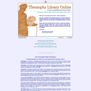 Theosophy Library Online - Home - What Is Theosophy-
