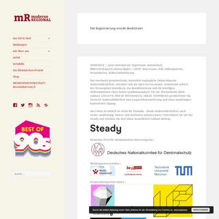 moderneREGIONAL - Online-Magazin für die Nachkriegsmoderne