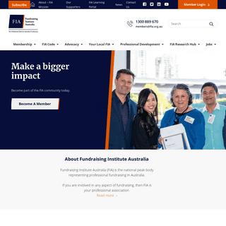 Fundraising Institute Australia (FIA)- Home