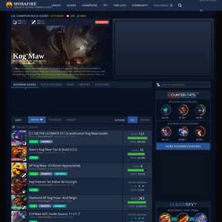 Kog`Maw Build Guides -- League of Legends Strategy Builds