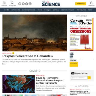 Pour la Science - la science expliquée par ceux qui la font