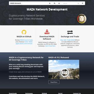 MAZA Network Development · MAZA Network Development - MAZA